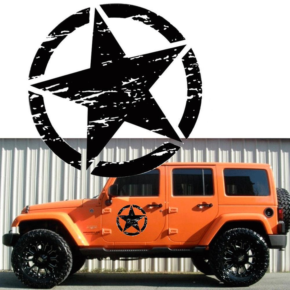 Five-pointed Star Car Sticker Auto Styling Decal Personality For Jeep Accessories Waterproof Vinyl Star Graphic Motorcycle Decal