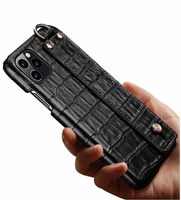 YXAYN Genuine Leather Crocodile Pattern Strap Ultra Thin Hard for iphone 11 Pro max X XS XR 7 8 Plus Phone Case 6