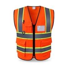 Светоотражающий Жилет для бега, для мужчин, высокая видимость, мульти карман, Спортивная конструкция, безопасность, снаряжение, верхняя защита