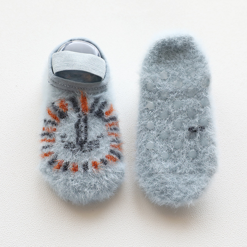 Autumn And Winter New Style Baby Floor Socks Cartoon Mink Baby Socks Children Anti-slip Toddler Shoes Socks