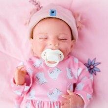 20 zoll 51CM Silcone Rebron Puppe Haar April Tuch Körper Herz Schlafengehen Mädchen Bebe Spielzeug Für Kinder