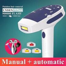 900000 вспышка IPL лазерная Машинка для удаления волос лазерный эпилятор удаление волос на лице постоянный Триммер бикини Электрический Лазер depilador