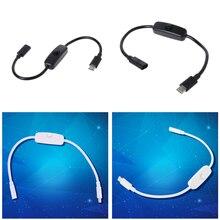 Тип C источник питания USB-C Удлинительный кабель для мужчин и женщин для выключения Raspberry Pi 4 An-droid мобильный телефон 27 см