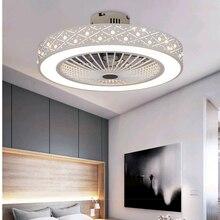 19-21 дюймовый потолочный вентилятор, умный пульт дистанционного управления, светильник s, домашний декор, 50-55 см, круглый современный потолочный вентилятор, светильник