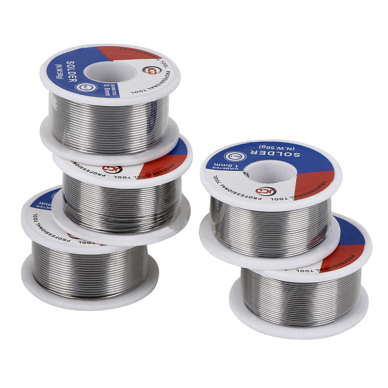 JCD Soldering Tin Wire Lead Free 100g 0.6mm 0.8mm 1.0mm 1.2mm 1.5mm Welding Tin Lead Wire Melt Rosin Core Solder Roll Flux BGA