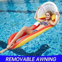 160cm Swimming Pool Float Chair Portable Folding Air Mattress Water Bed Ring for Adult Kid Swim Inflatable Floating