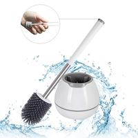 TPR Toilet Brush and Holder Set Silicone Bristles Brush for Toilet  Bathroom Cleaner Bowl Brush Cleaning Tool with Tweezers|Cleaning Brushes|Home & Garden -