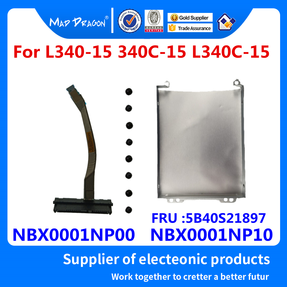 New Hard Disk Drive HDD Caddy Bracket Tray+ SSD HDD Cable For Lenovo L340-15 340C-15 L340C-15 L340-15IRH NBX0001NP00 NBX0001NP10