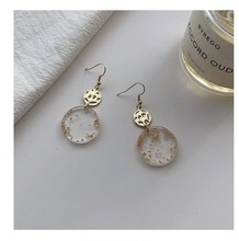 Celebrity with the same paragraph transparent pendant ear temperament earrings autumn and winter fashion women