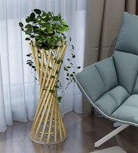 Floor standing flower shelf succulent green dill flower pot stand rack indoor living room decoration luxury golden 4 color