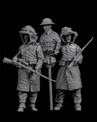 Novo unmounted 1/35 moderno britânico homem conjunto de resina figura kit modelo sem pintura