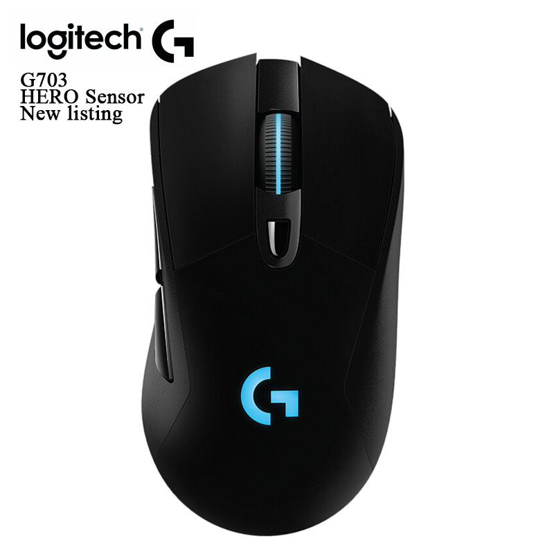 New Logitech original G703 Hero Sensor LIGHTSPEED mouse wireless gaming mouse with 16 000 DPI for pc gaming mouse gamer|Mice|   - title=