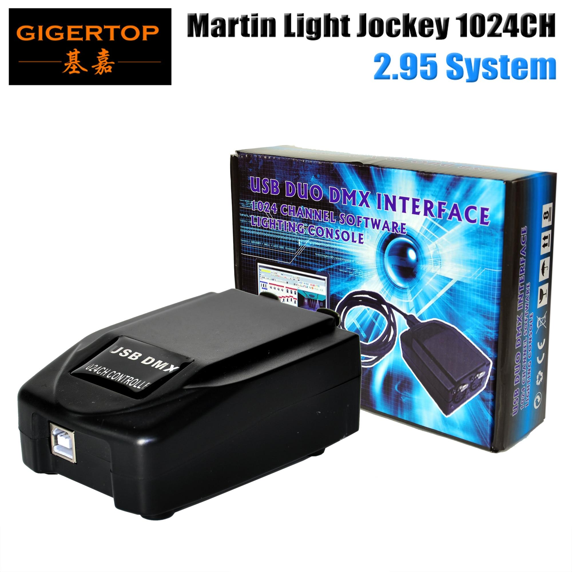 Envío gratuito Martin Lightjockey DMX Nueva caja USB mejorada Martin Light Jockey Hi-Quality LED Stage Light USB controller