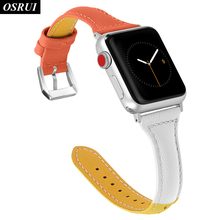 цена на Leather Strap for Apple watch band correa aple 42mm 38mm iwatch 4 3 2 1 44mm 40mm bracelet belt for apple watch Accessories