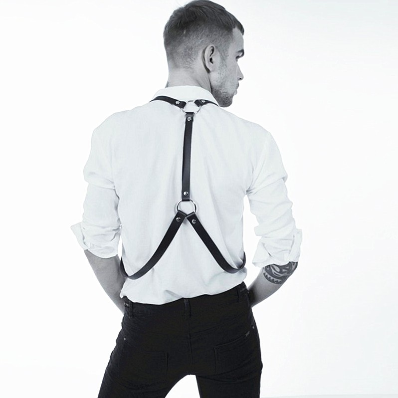 New Men Adjustable Leather Harness gg Belt Gothic Garters Waist Suspender Bdsm Chest Shoulder Body Bondage belt Straps in Men 39 s Belts from Apparel Accessories