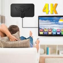 Antenne de télévision numérique HD 4K, Protection de la tension, chaînes Full HD, DTV, prise ue, antenne de télévision d'intérieur avec amplificateur, Booster de Signal
