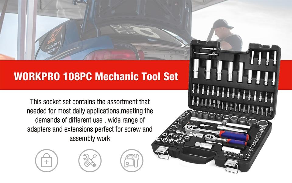 WORKPRO 108PC Mechanical Tool Set