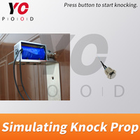 YOPOOD Simulating Knock Door Prop real room escape press metal button to trigger the electric pound to knock password clues