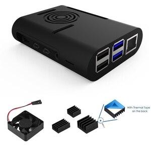 Original Raspberry Pi 4 Model B Kit + Aluminum Case + Heat Sink + 3A Switch Power + Micro HDMI Option 64 32GB SD Card |Reader(China)