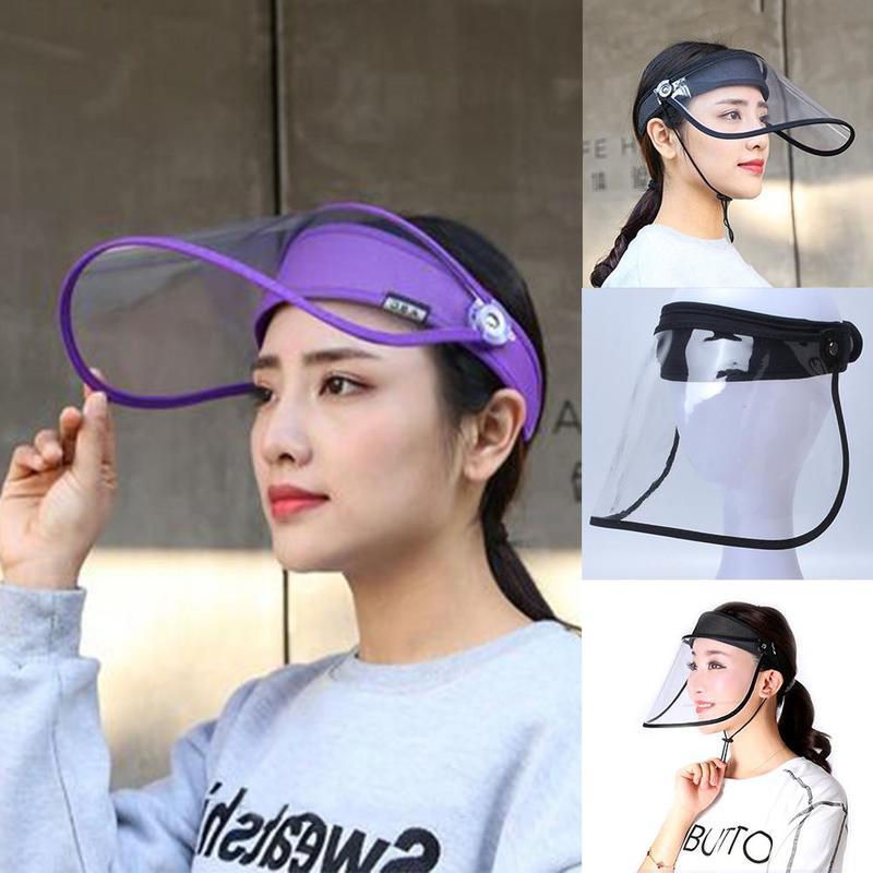 Protective Cap Transparent Anti-fog Protection Sun Saliva Empty Top Hat Men Women Fashion Hats