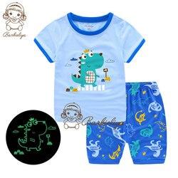 Детская Пижама для мальчиков и девочек, летняя одежда для сна, подарок для детей, милый пижамный комплект для сна, 2019