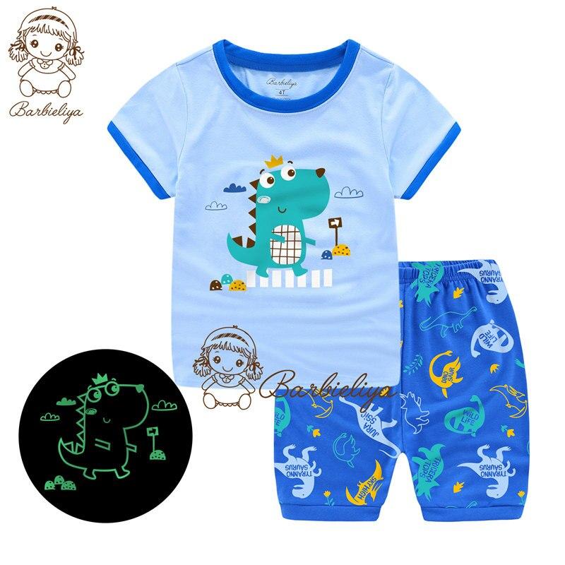 For Shuji--Children Pajamas 2019 Boy Girl Summer Sleepwear Baby Nightwear Child Gift Kids Lovely Pyjamas Set Sleepers