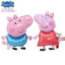 1 pçs/lote Peppa Pig Filme de Alumínio Balão de Hélio Balões do partido Fontes do Partido de Aniversário