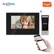 JeaTone 7 inç WIFI IP görüntülü kapı telefonu interkom kiti kapı zili kapı hoparlör erişim kontrol sistemi dokunmatik ekran hareket algılama