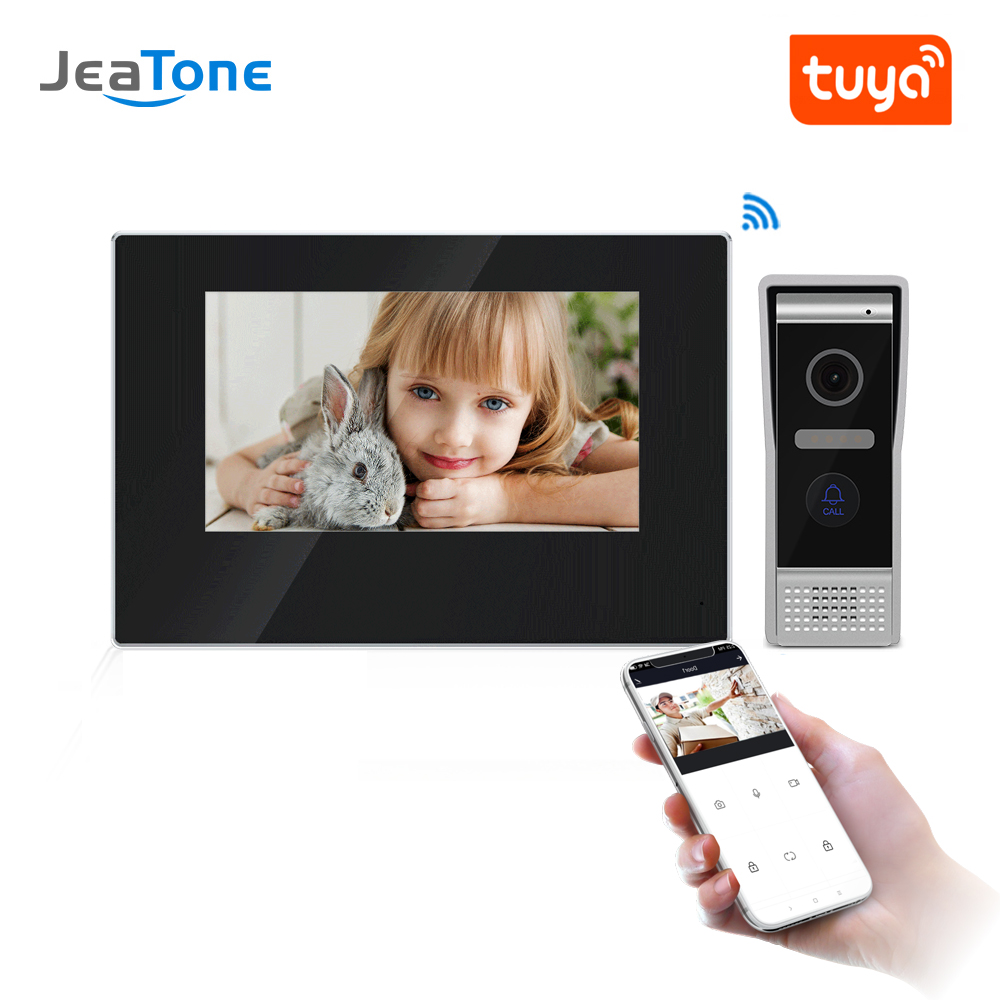 JeaTone 7 Inch WIFI IP Video Door Phone Intercom Kit Door Bell Door Speaker Access Control System Touch Screen Motion Detection