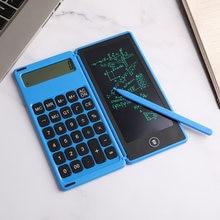 Электронный калькулятор удобная складная ЖК дисплей каллиграфии