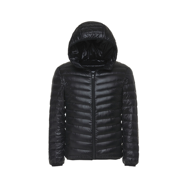 Men's All-Season Ultra Lightweight Packable Down Jacket Water and Wind-Resistant Breathable Coat Big Size Men Hoodies Jackets 3