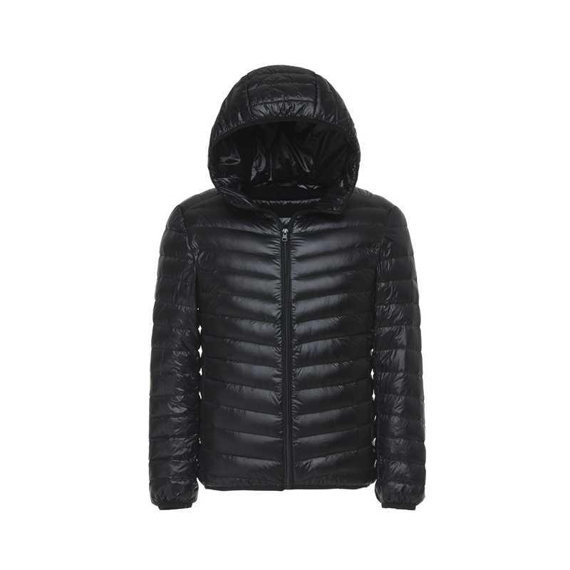 남자의 올 시즌 울트라 경량 Packable 다운 재킷 물과 바람 방지 통기성 코트 빅 사이즈 남성 후드 재킷