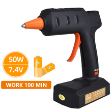Wireless electric thermo gun 7.4V glue sticks 7 mm for home renovation mini gun set material crafts with free shipping