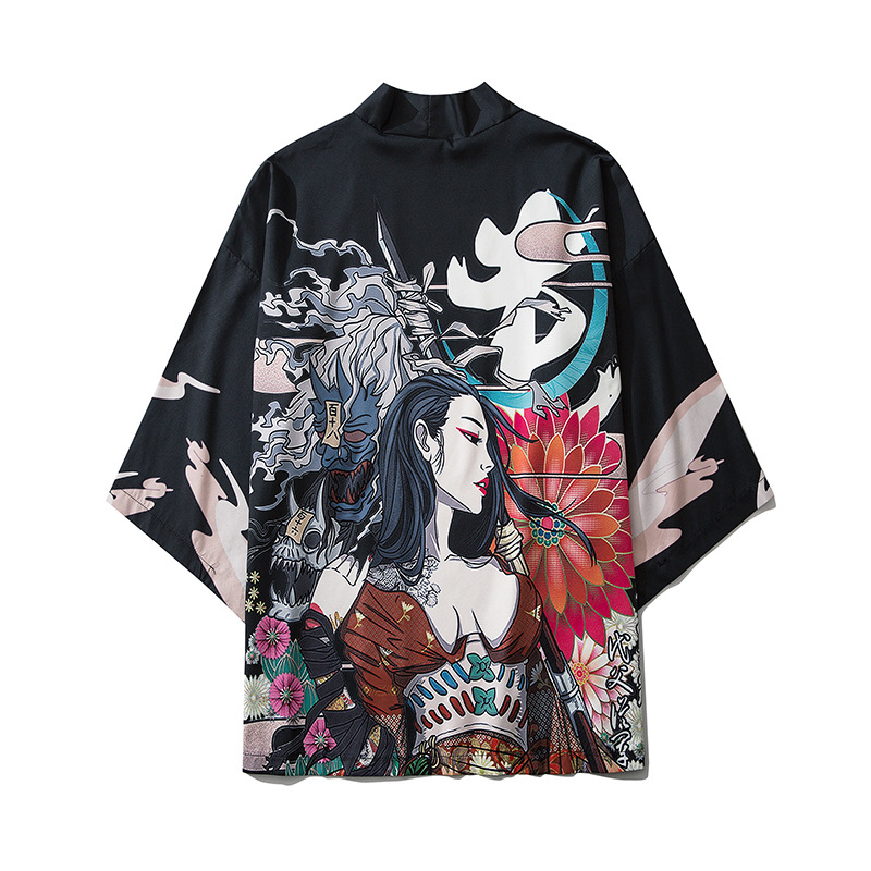 2020 Japanese Style Casual Kimono Streetwear Men Women Fashion Cardigan Japan Harajuku Anime Thin Robe Clothes