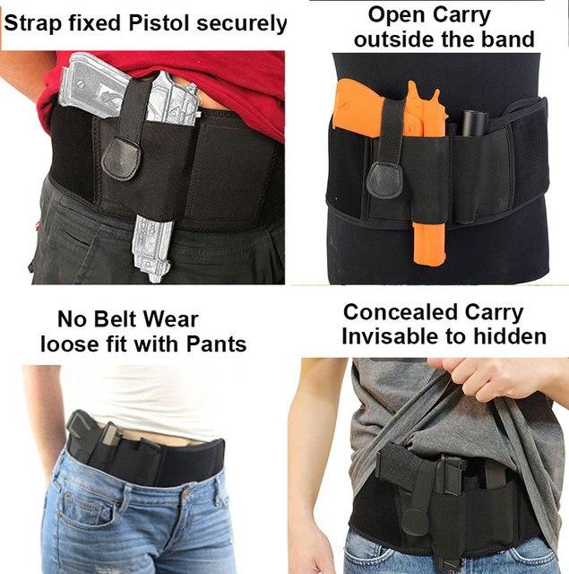 Tactical gun holster concealed bel