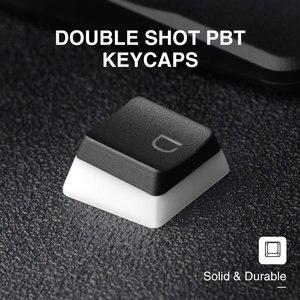Брелок Havit Keycaps с двойной подсветкой, PBT набор ключей для пудинга с пульверизатором для DIY Cherry MX, механическая клавиатура, черный и белый цвета