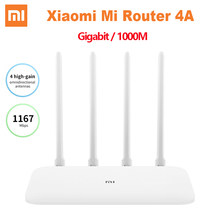 Xiaomi Mi Router 4A Gigabit Edition 1000M 2,4 GHz 5GHz WiFi ROM 16MB DDR3 64MB 128MB High Gain 4 Antennen Remote APP Control