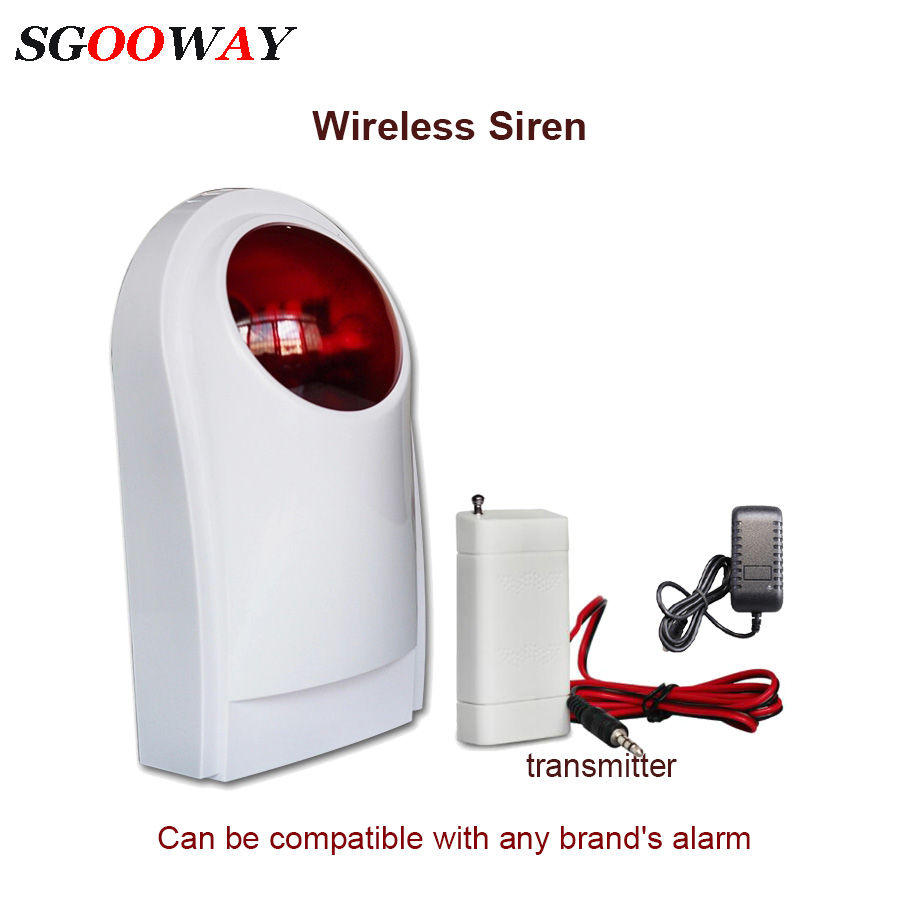 <font><b>120db</b></font> Wireless outdoor sound and light flashing siren for alarm system tuya 433mhz image