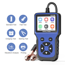 V311B 12V Battery Test Battery Detector Car Battery Charger Tester Analyzer Car Charging Cricut Load Tester Analyzer Tools