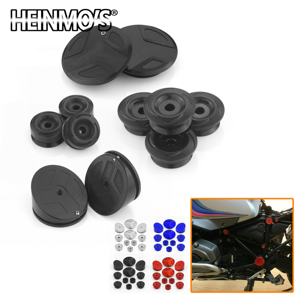 11 PCS R <font><b>1200</b></font> <font><b>GS</b></font> LC ADV Frame Hole Decoration Plug Cover Cap For R1200GS <font><b>Adventure</b></font> 2018 2017 R1200RT <font><b>2015</b></font> Motorcycle Accessories image