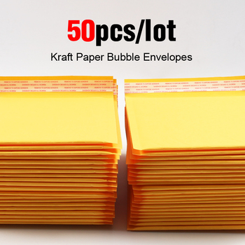 Купить со скидкой 50pcs/lot Kraft Bubble Mailer Poly Shipping Envelopes with Bubble Shipping Bags Mailer Mailing Bags