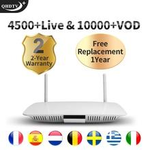 Leadcool Q1404 French IPTV France/Arabic/Italy/Spain/Portugal/Turkey Android 8.1 Box IPTV France/Arabic/Italy/Spain QHDTV Plus leadcool pro qhdtv plus iptv france arabic italy canada android 8 1 1 8g 2 16g iptv france arabic italy spain canada qhdtv plus