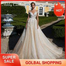 Ashley Carol A Line Wedding Dress 2020 Elegant Sweetheart Luxury Beaded Lace Appliques Tulle Bride Dresses Princess Bridal Gowns