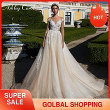Ashley Carol line suknia ślubna 2020 elegancka Sweetheart luksusowe koralikowe aplikacje koronkowe tiulowe suknie ślubne księżniczka suknie ślubne
