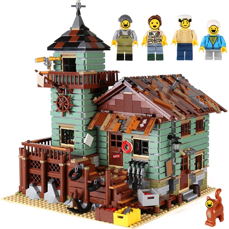 Ideas series The Old Fishing Store Model Building Blocks Toys For Children NEW