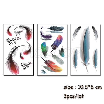 Temporary Tattoo Feather English Letter Water Transfer Tatoo Sticker Tattoo Black Tatto Body Art Tatoo Girl Boy Arm Tatto Buy At The Price Of 1 10 In Aliexpress Com Imall Com