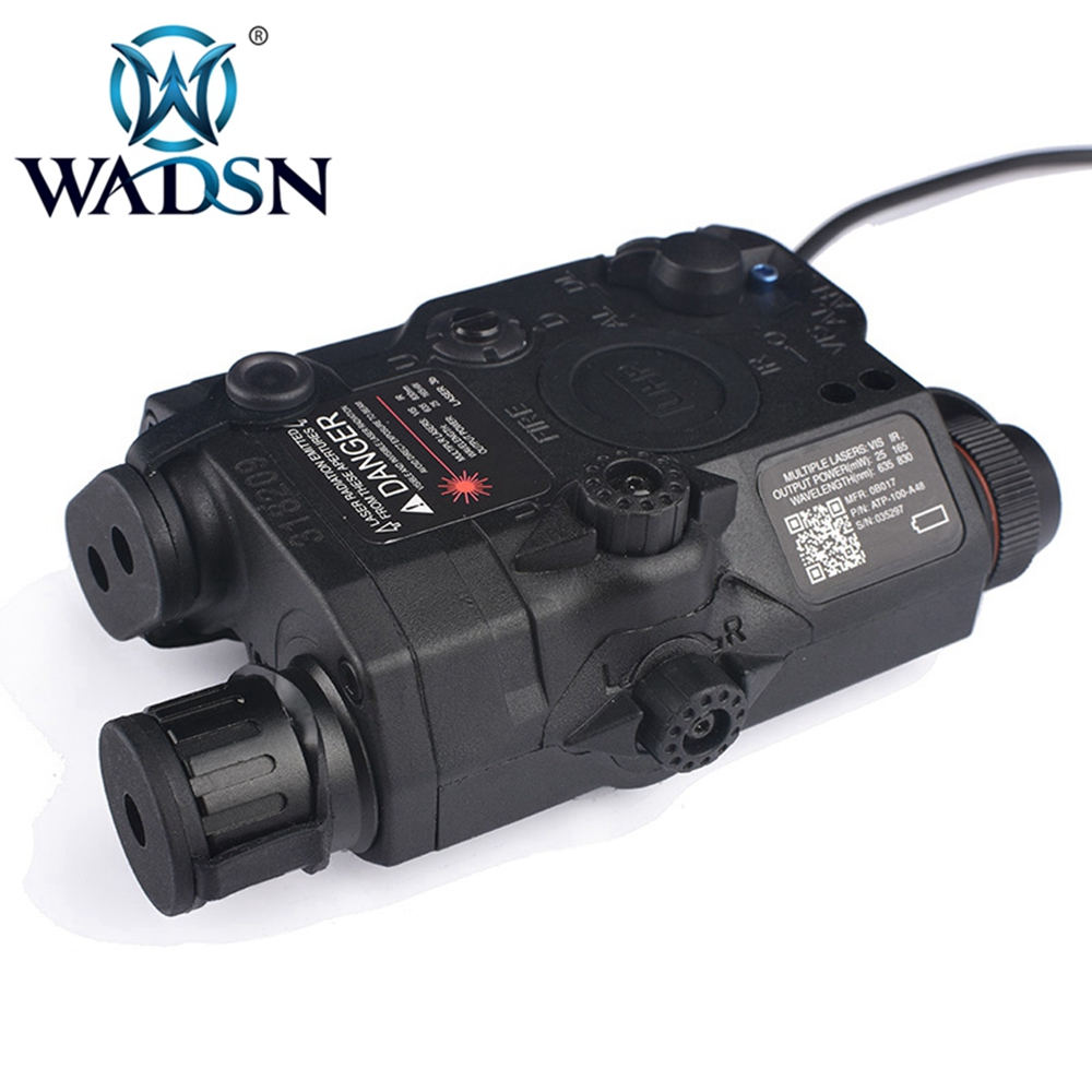 Image 4 - WADSN Airsoft LA 5 Red Lazer IR Laser LED Flashlight UHP Appearance IR laser PEQ 15 LA5C red lazer Tactical Weapon Light WEX396-in Weapon Lights from Sports & Entertainment