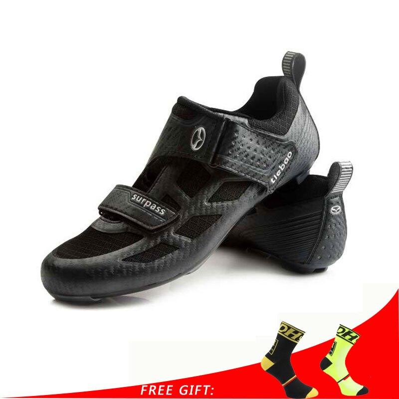 Tiebao Триатлон Профессиональная Мужская велосипедная обувь дышащая обувь для шоссейного велосипеда обувь для самоблокирующихся гонок спортивные кроссовки zapatillas