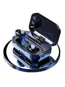 9D Stereo Earphone Smart-Power-Bank LED Ipx7 Waterproof 3300mah Bluetooth Wireless G02