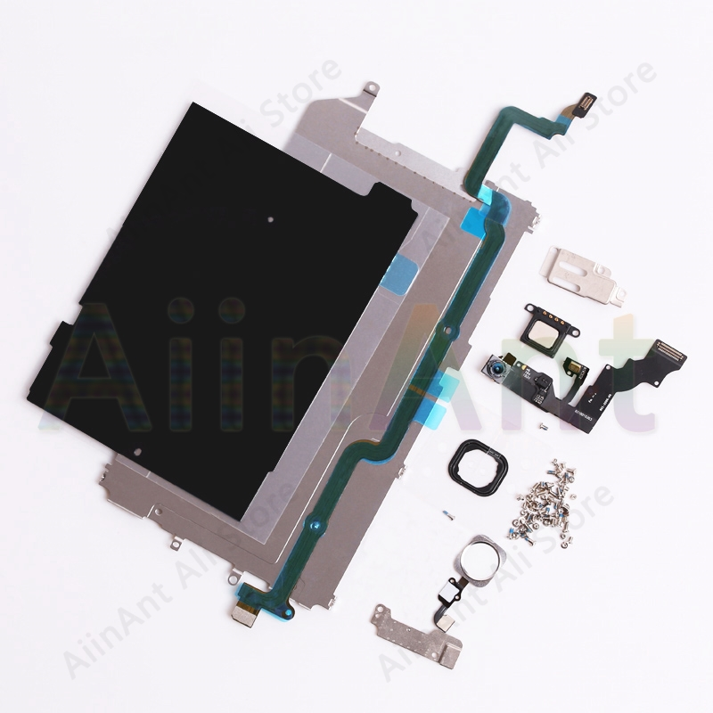 For iPhone 5 5s 5c 6 6s Plus LCD Display Screen Metal Small Parts Protect Cover Ear Speaker Front Camera Home Button Flex image